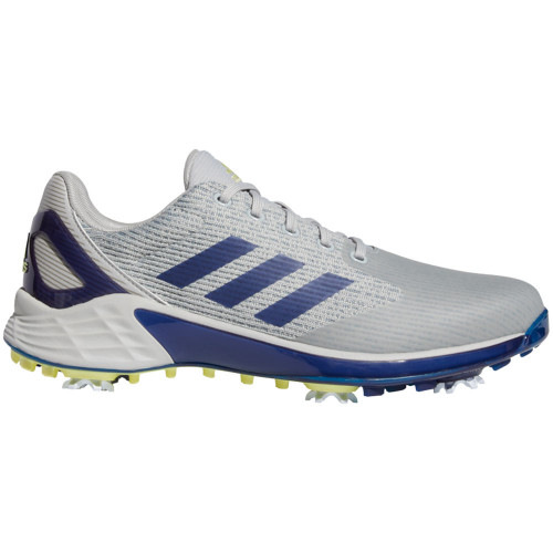 adidas ZG21 Motion Mens Recycled Polyester Golf Shoes (Grey Two/Victory Blue/Pulse Yellow)